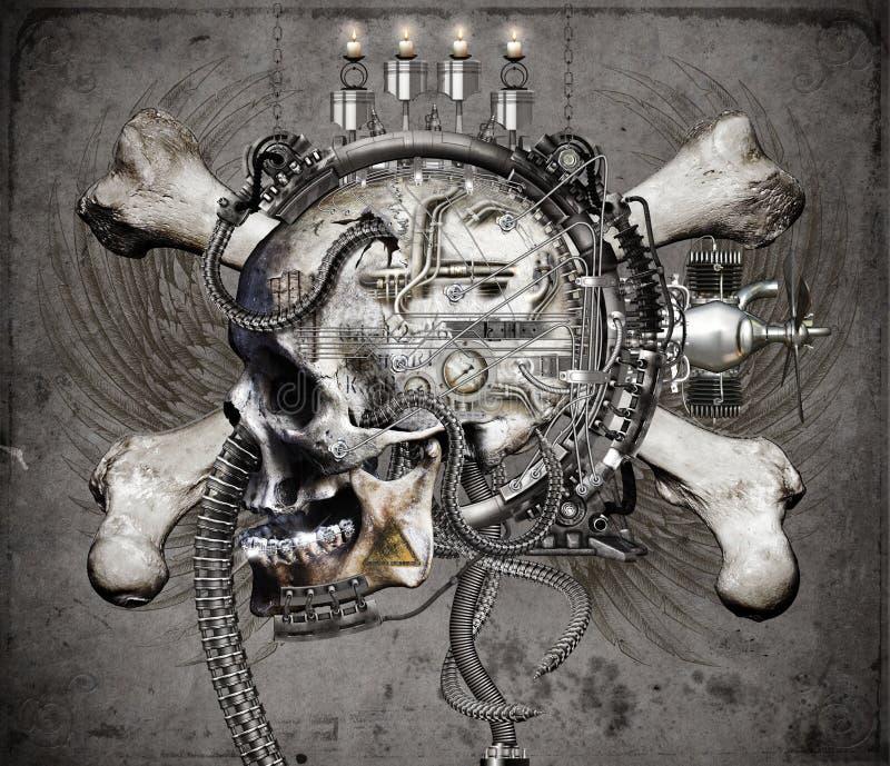 crossbones fi sci czaszki ilustracji