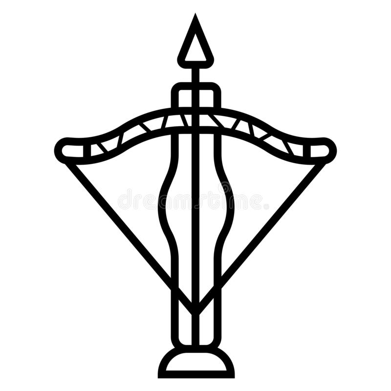Crossbow ikona ilustracji