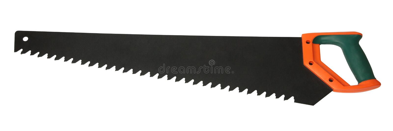 Crosscut saw isolated on white. Hand tools, manual equipment, gardening stock photography