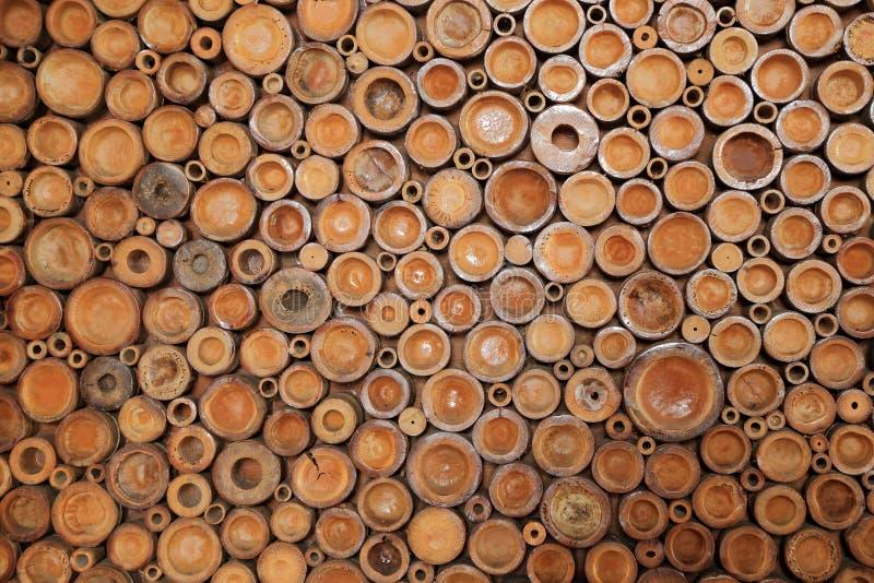 Crosscut van bamboe voor achtergrond stock fotografie