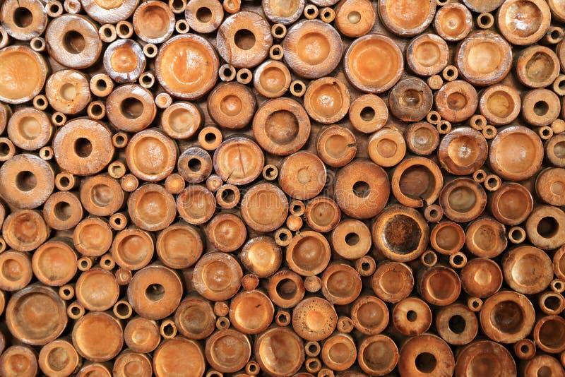 Crosscut van bamboe voor achtergrond royalty-vrije stock fotografie