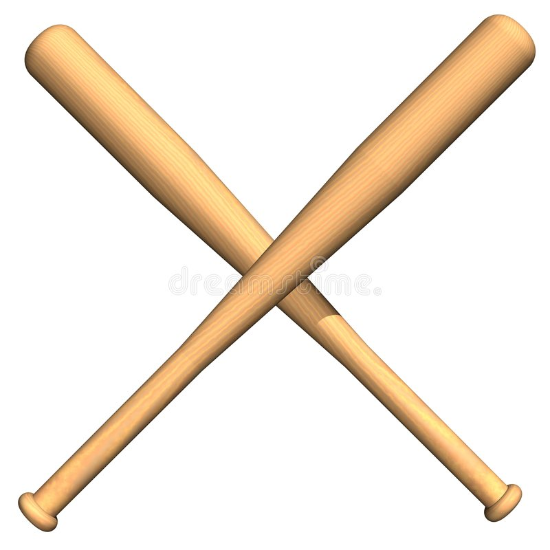Free Crossed Baseball Bats Stock Images - 5827354