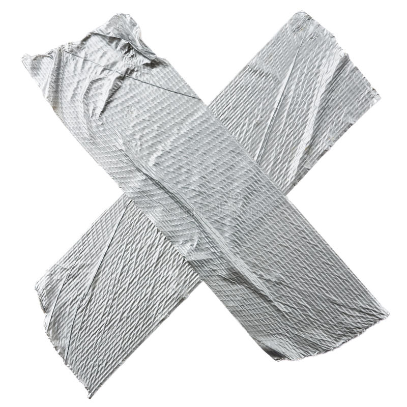 Crossed Duct Tape Strips royalty free stock photos
