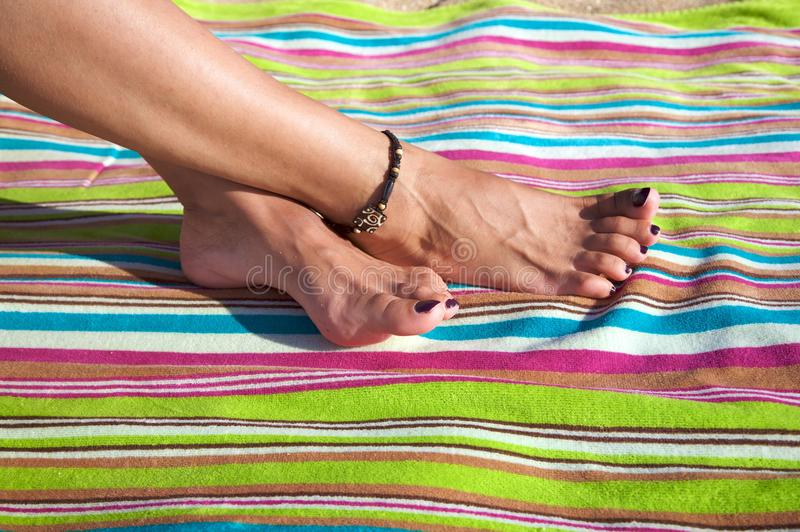 Download Crossed feet stock photo. Image of foot, polish, manicure - 12483582