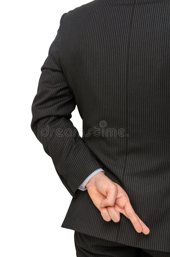 Crossed Fingers Stock Images
