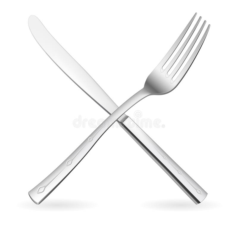 Free Crossed Fork And Knife. Stock Photography - 21162302
