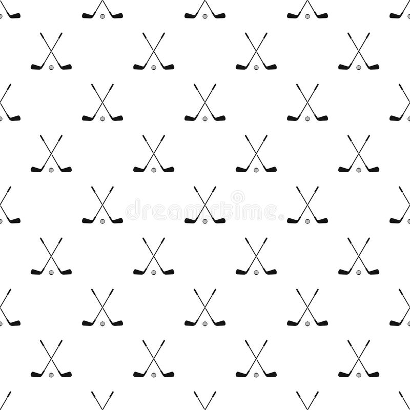 Crossed golf clubs pattern, simple style. Crossed golf clubs pattern. Simple illustration of crossed golf clubs vector pattern for web royalty free illustration