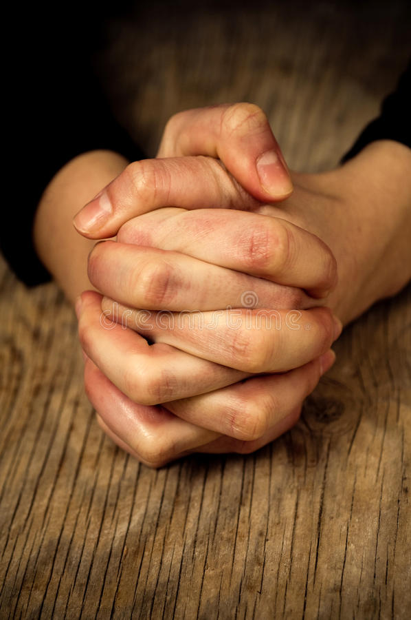Download Crossed hands stock image. Image of detail, expectation - 12645663