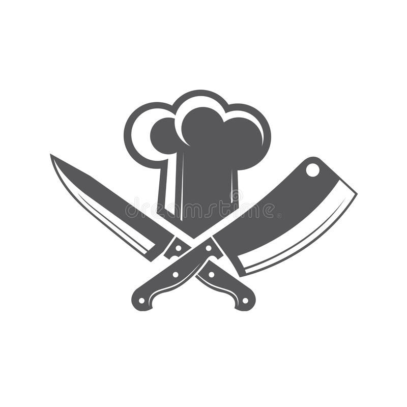 Free Crossed Knives And Chef Hat Stock Photography - 86543772