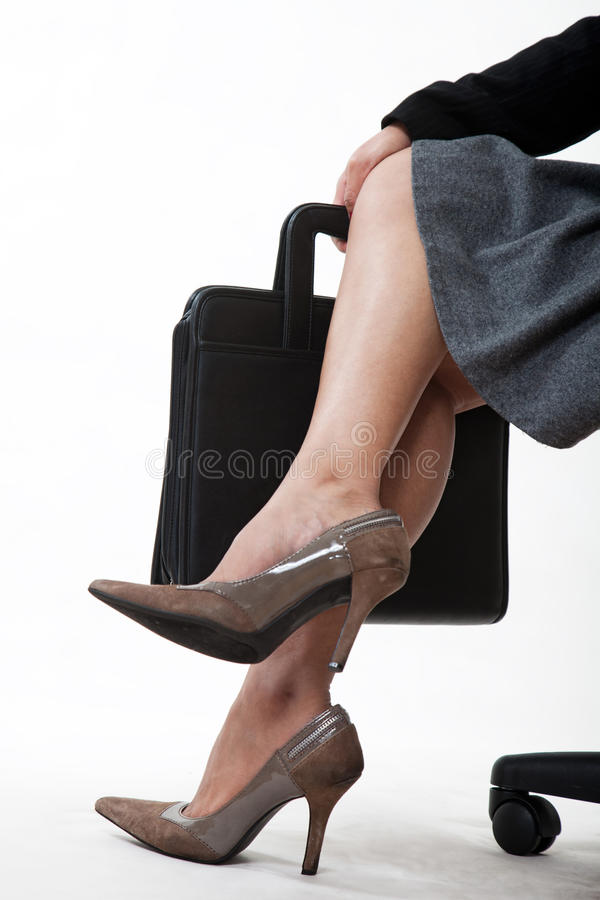 Download Crossed Legs Of A Businesswoman Stock Image - Image: 22338317