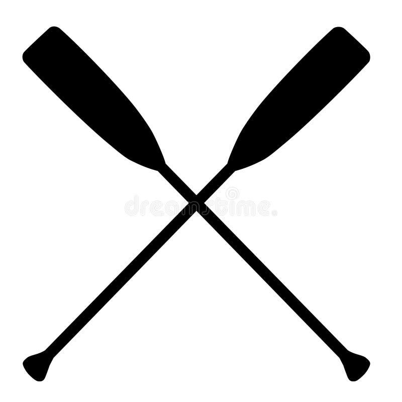 Crossed oars vector illustration