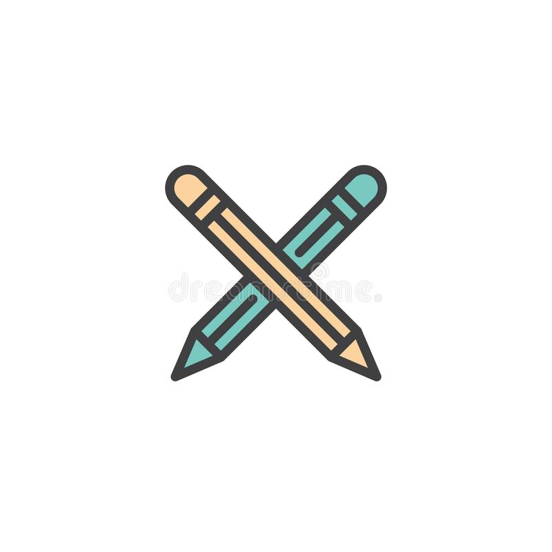 crossed pencils filled outline icon stock vector illustration of rh dreamstime com cross pens gold filled cross pens gold