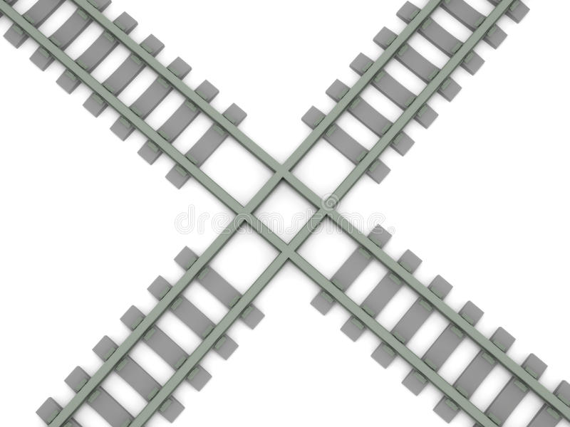 Download Crossed railroad stock illustration. Image of concepts - 14468376