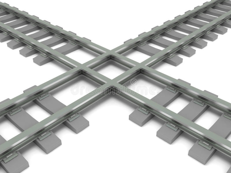 Download Crossed railroad stock illustration. Image of dimensional - 14524234