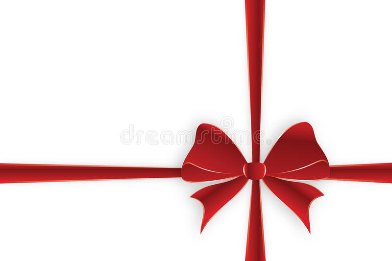 Crossed Red Ribbon Stock Photo