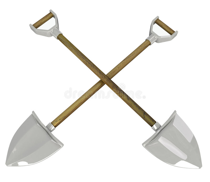 Download Crossed Shovels stock illustration. Image of over, work - 7087579