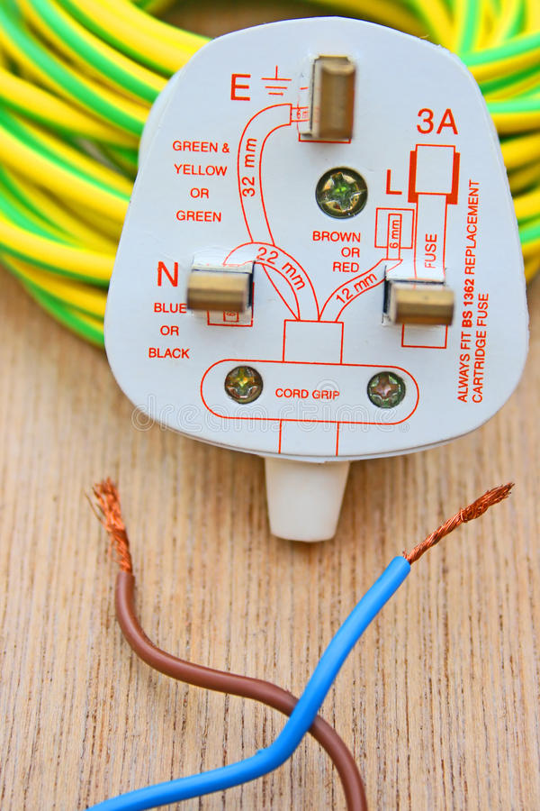 Crossed wires stock photo