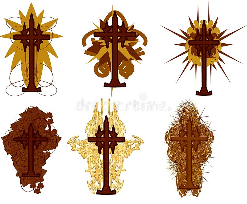 Download Set Of Isolated Crosses Decorated Royalty Free Stock Photo - Image: 14173965