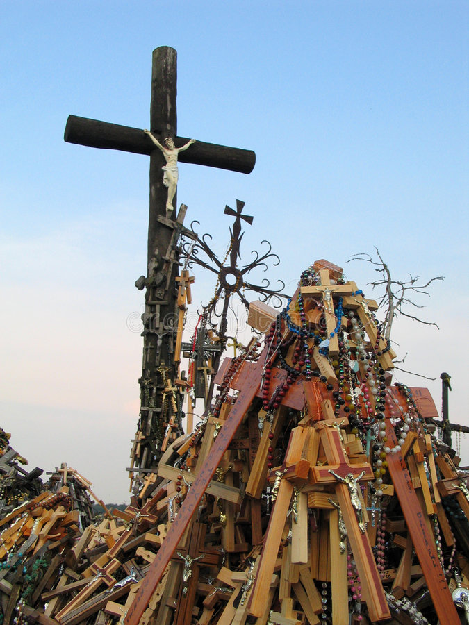 Crosses. The Hill of Crosses, Lithuania royalty free stock image