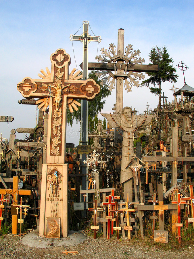 Crosses. The Hill of Crosses, Lithuania royalty free stock images