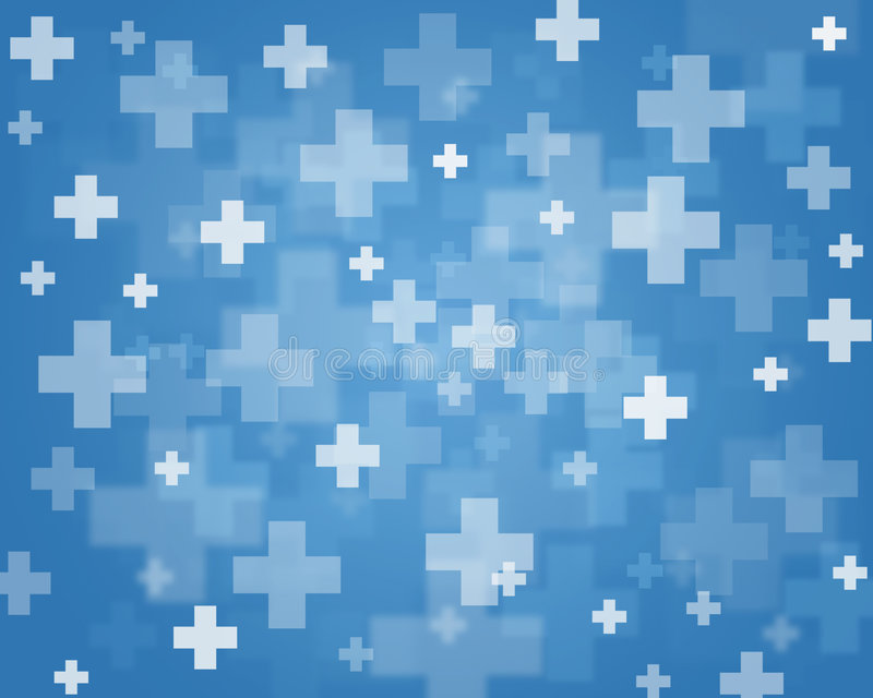 Crosses. Blue abstract background of crosses royalty free illustration