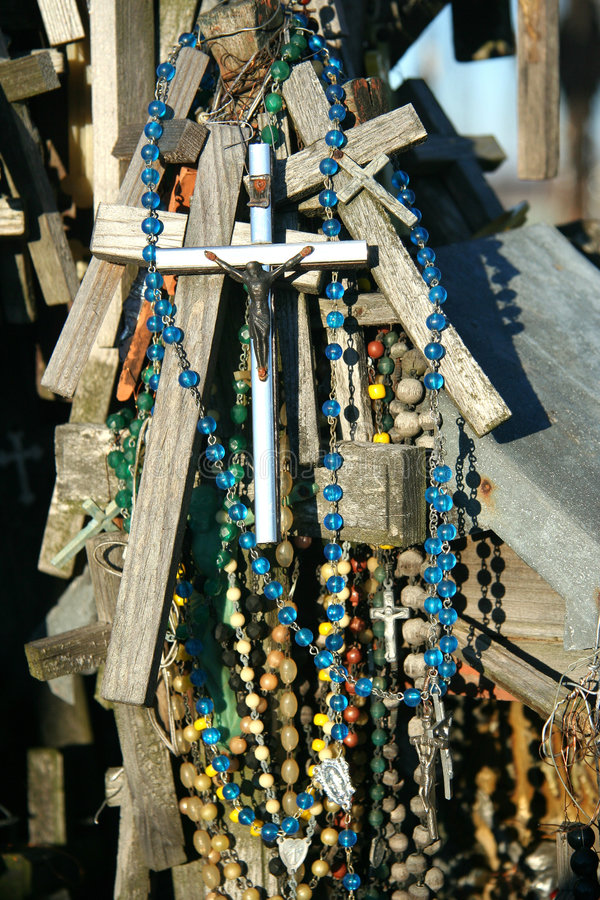 Crosses with beads stock image