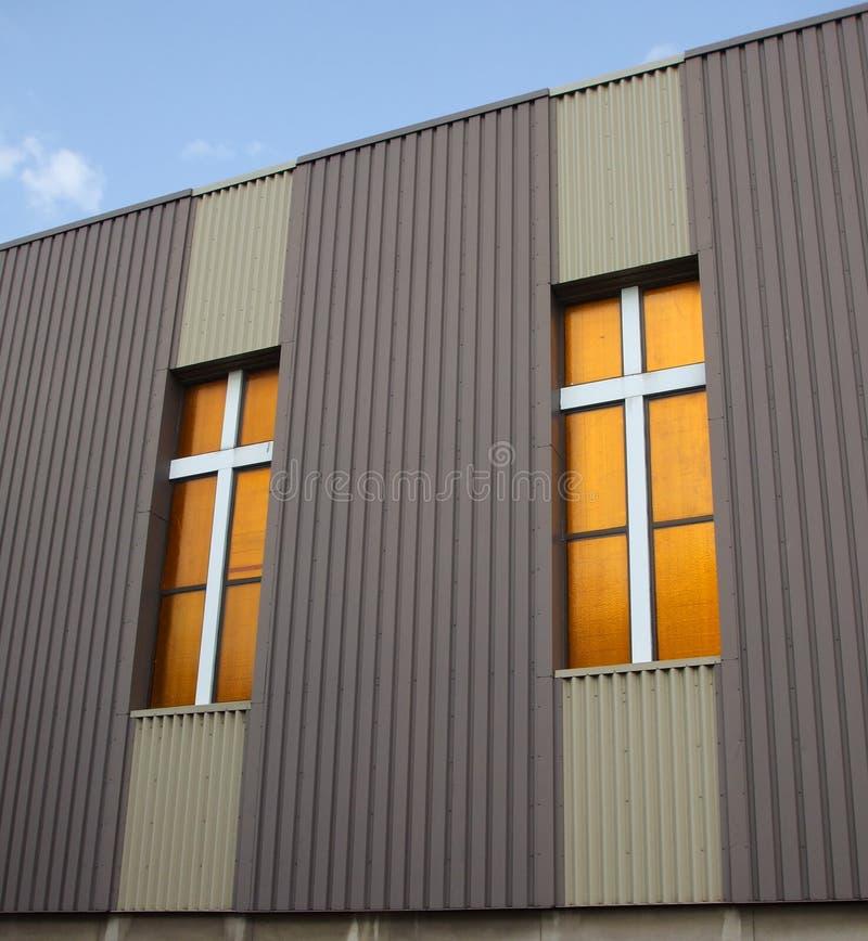 Free Crosses On Inner City Church Stock Photo - 2872490