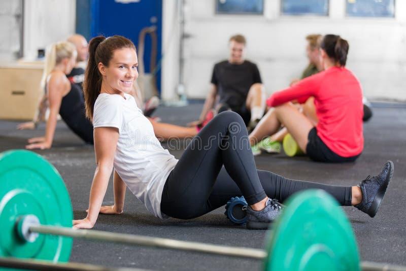 Crossfit övning för böjlighet och rörlighet royaltyfri foto