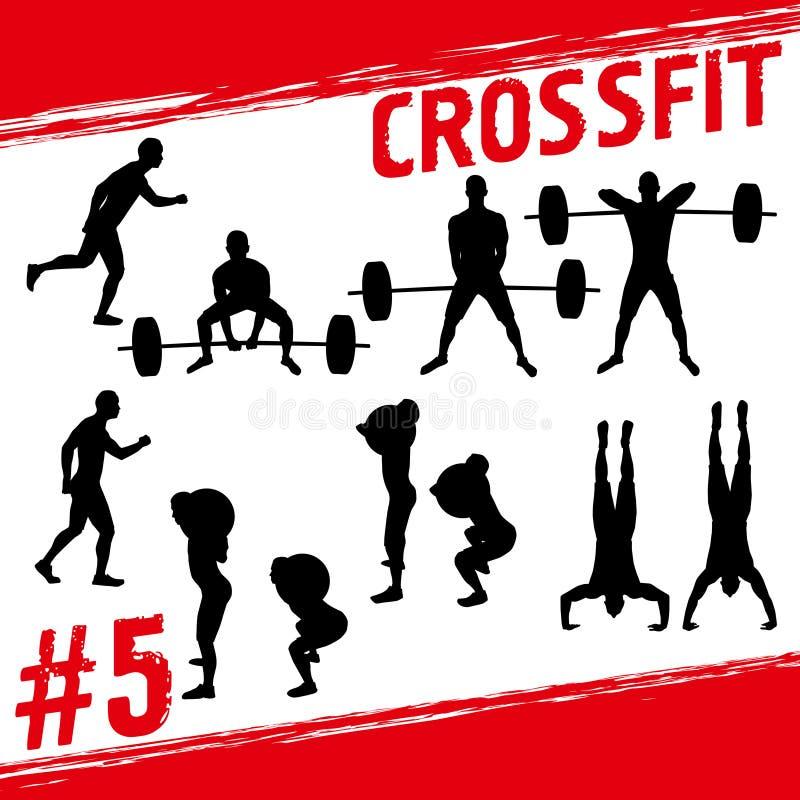 Crossfit begrepp vektor illustrationer
