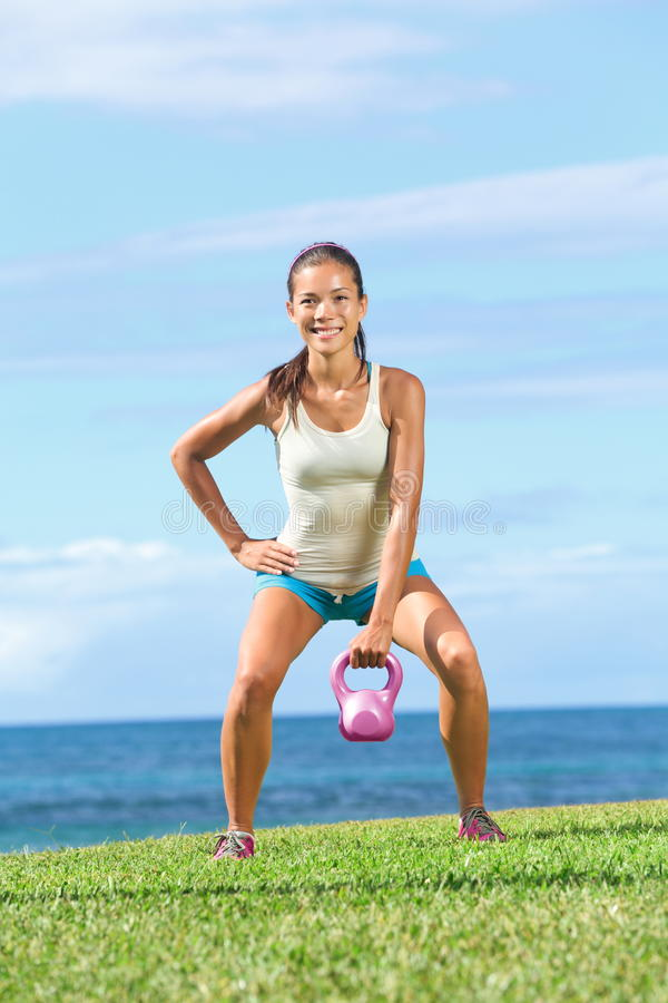 Crossfit Fitness Exercise Woman Royalty Free Stock Photos