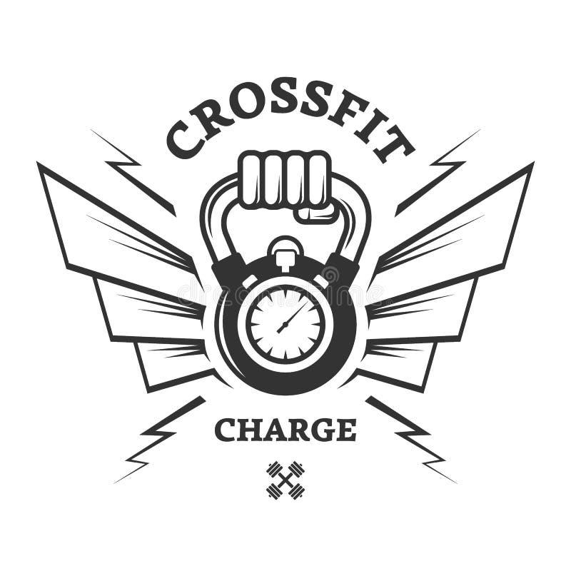 CrossFit genomkörare för ett tag stock illustrationer