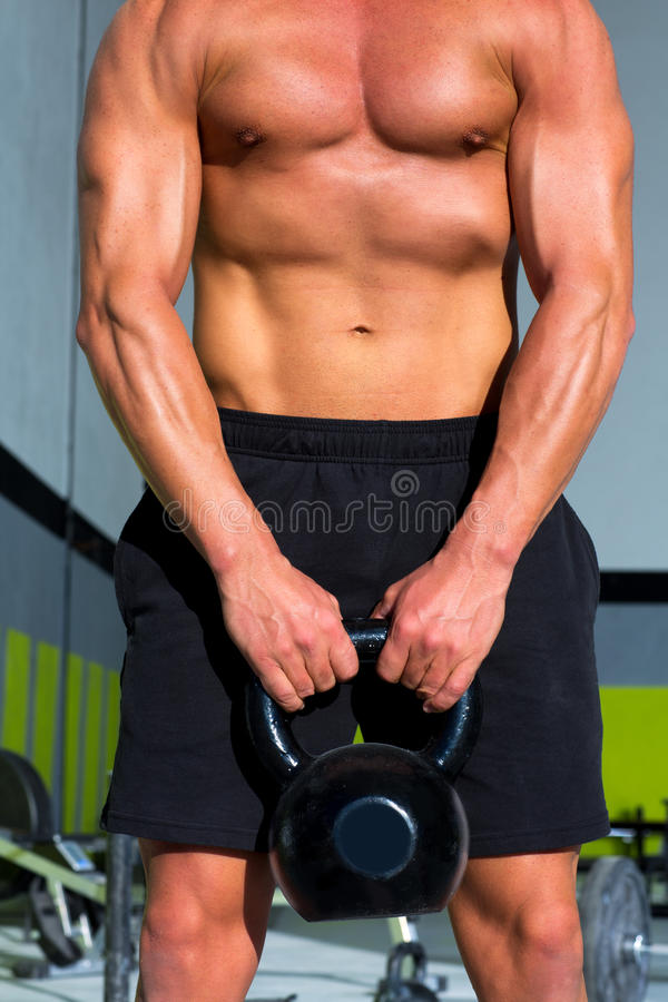 Download Crossfit Kettlebells Swing Exercise Man Workout Stock Image - Image: 28359159