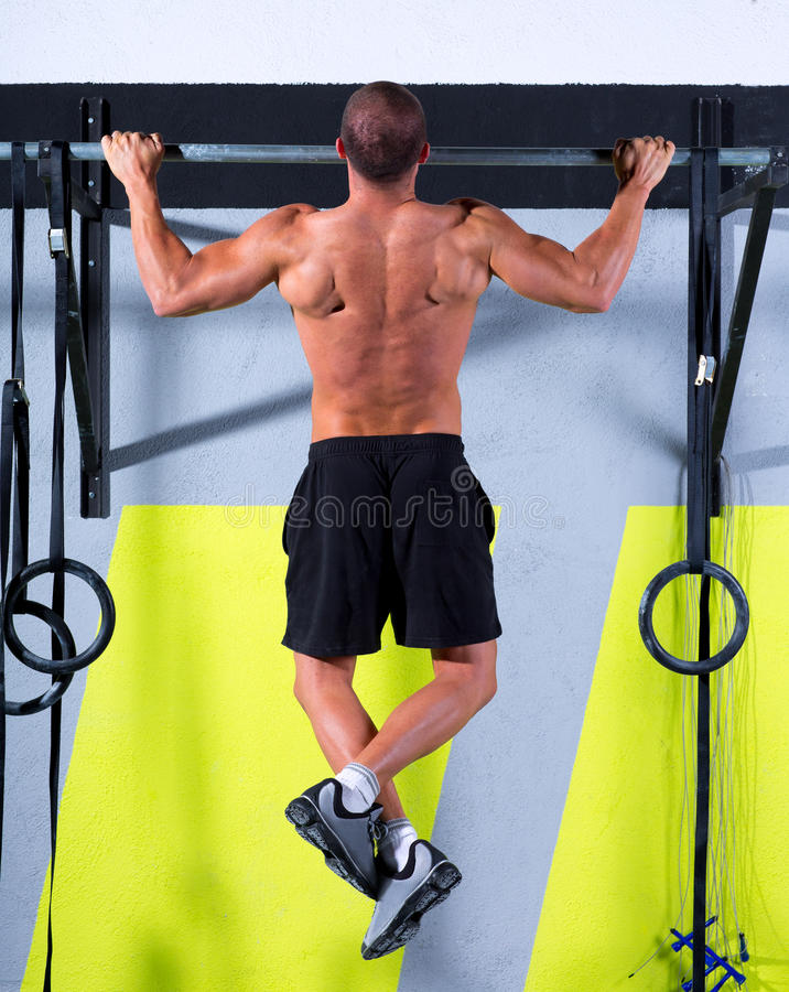 Download Crossfit Toes To Bar Man Pull-ups 2 Bars Workout Stock Photo - Image: 28360262