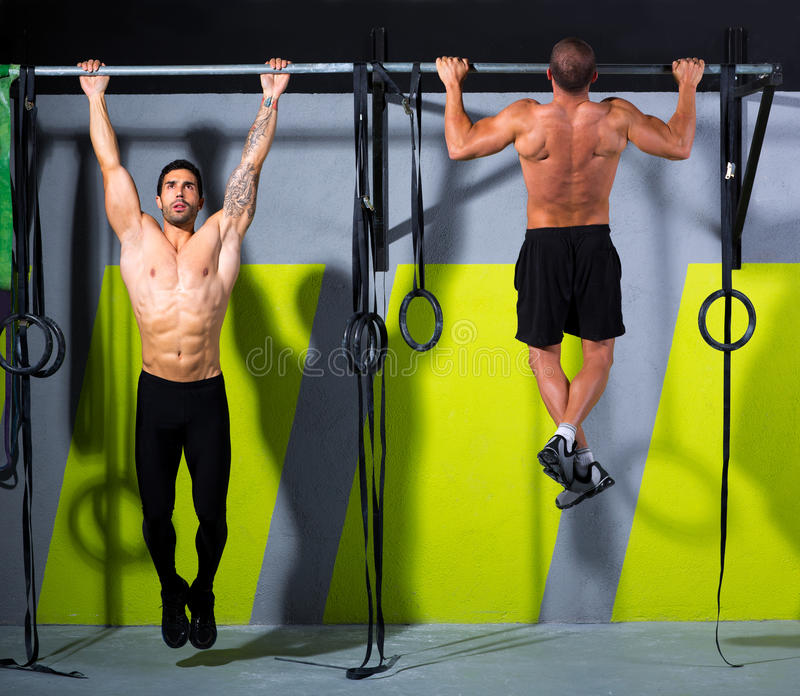Download Crossfit Toes To Bar Men Pull-ups 2 Bars Workout Stock Image - Image: 28360387