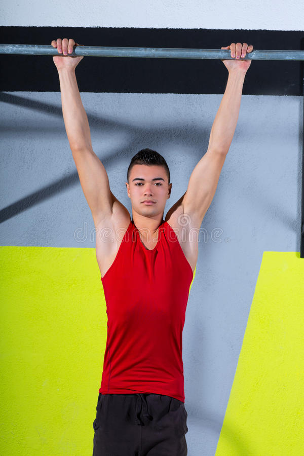 Download Crossfit Toes To Bar Young Man Pull-ups 2 Bars Workout Stock Image - Image: 28360553