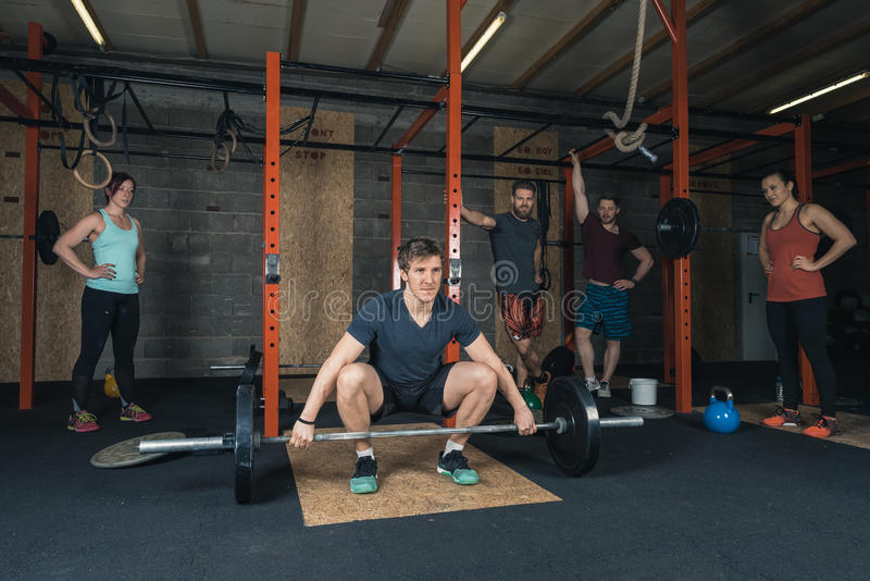 Crossfit Trainer Group royalty free stock image
