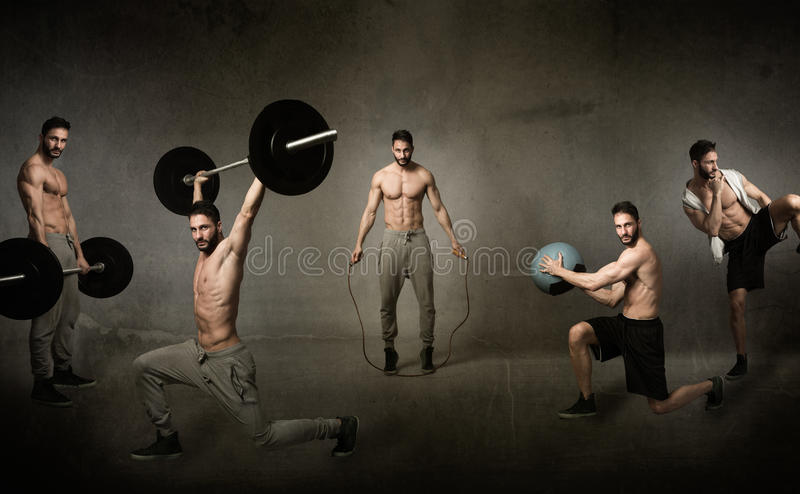 Crossfit workout concept royalty free stock photo