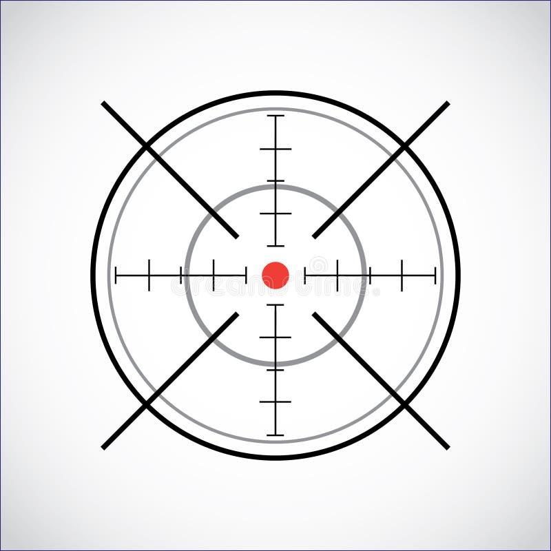 Crosshair. With red dot - illustration vector illustration