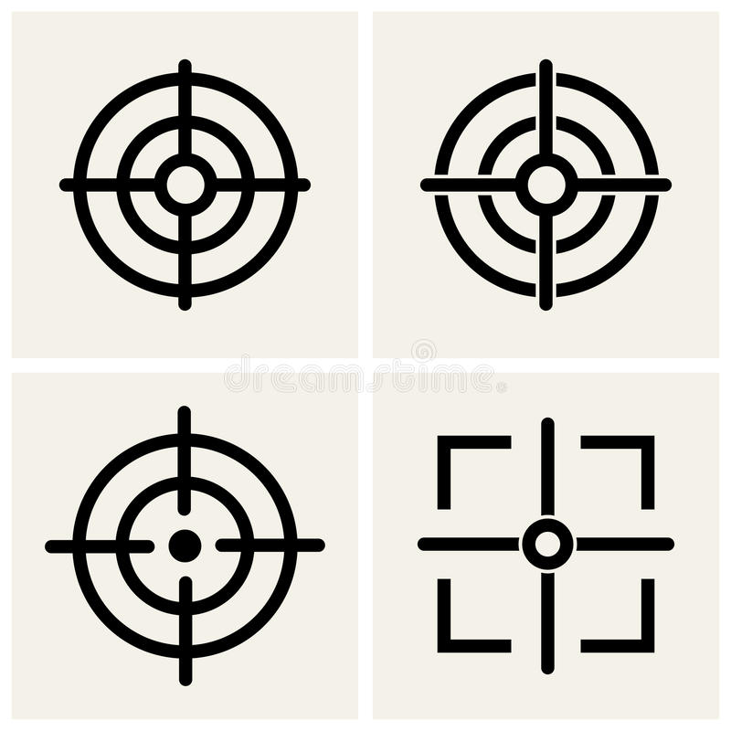 Crosshair vector illustratie