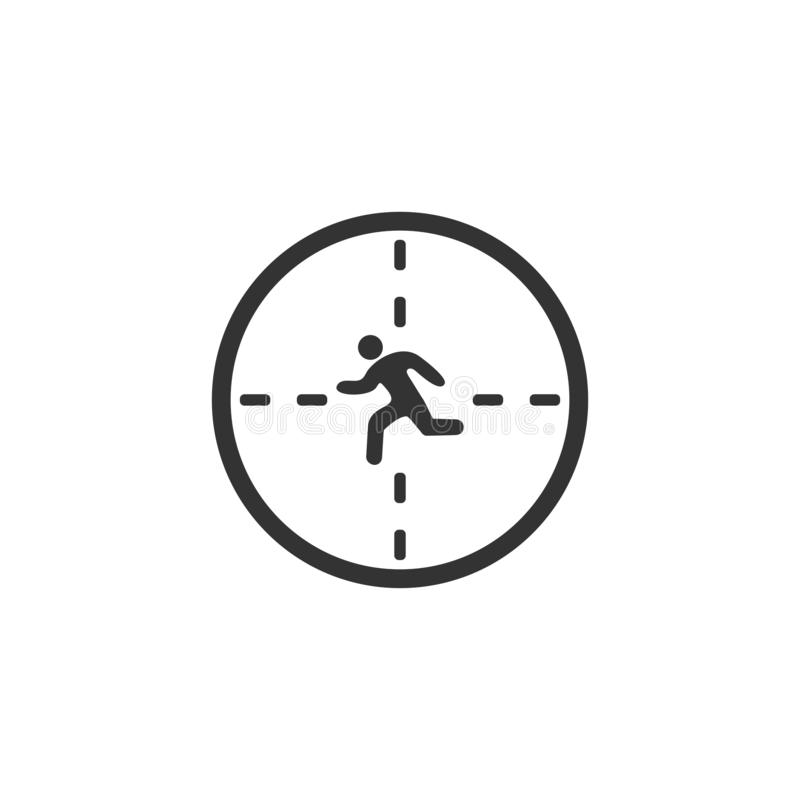 Crosshair icon flat. Crosshair. Black Icon Flat on white background vector illustration