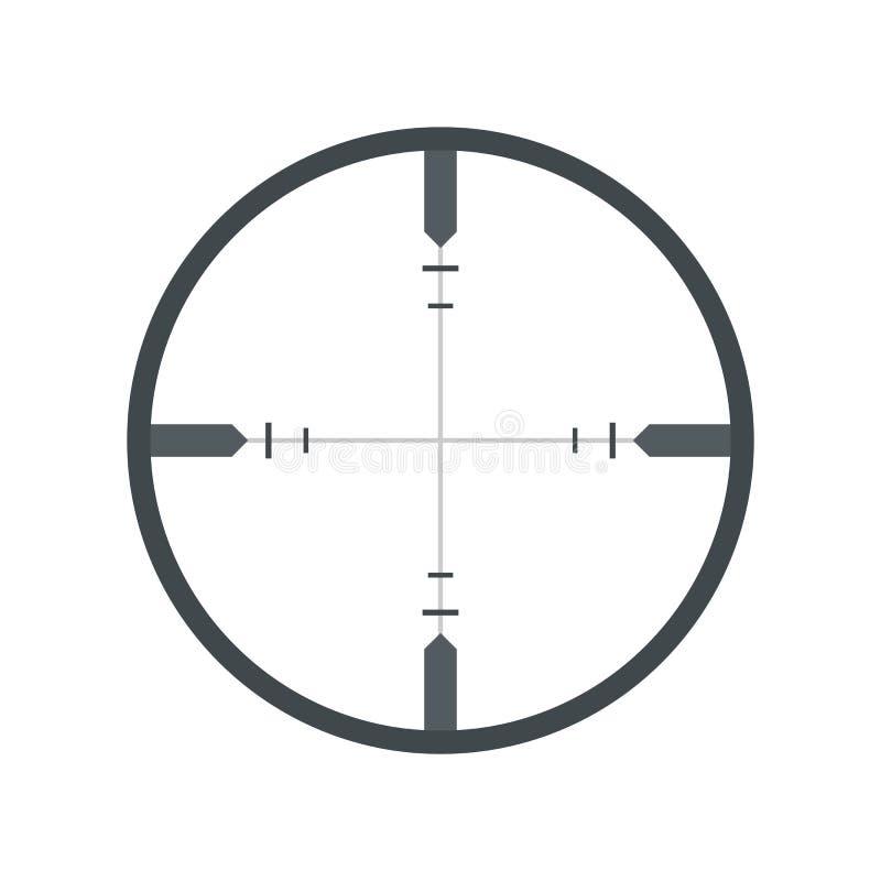 Crosshair flat icon. On white background vector illustration
