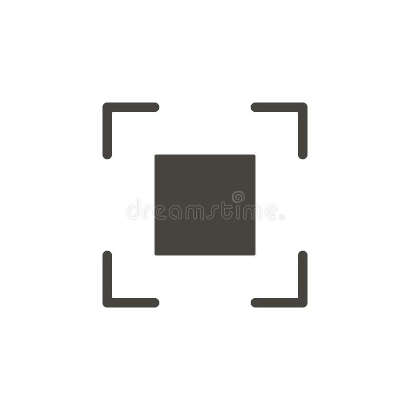 Crosshair, focus  icon. Simple element illustrationCrosshair, focus  icon. Material concept  illustration vector illustration
