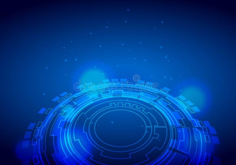 Crosshair futuristico di fantascienza Interfaccia utente di HUD Priorità bassa di tecnologia Concetto dello schermo dell'obiettiv illustrazione di stock