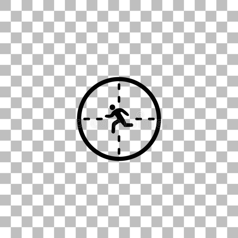 Crosshair icon flat. Crosshair. Black flat icon on a transparent background. Pictogram for your project royalty free illustration