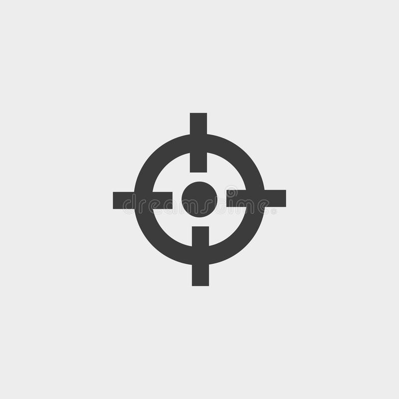 Crosshair icon in a flat design in black color. Vector illustration eps10 vector illustration