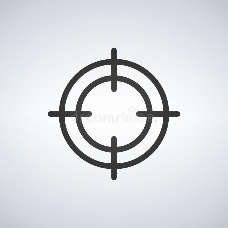 Crosshair icon on white background. Vector illustration.  stock illustration