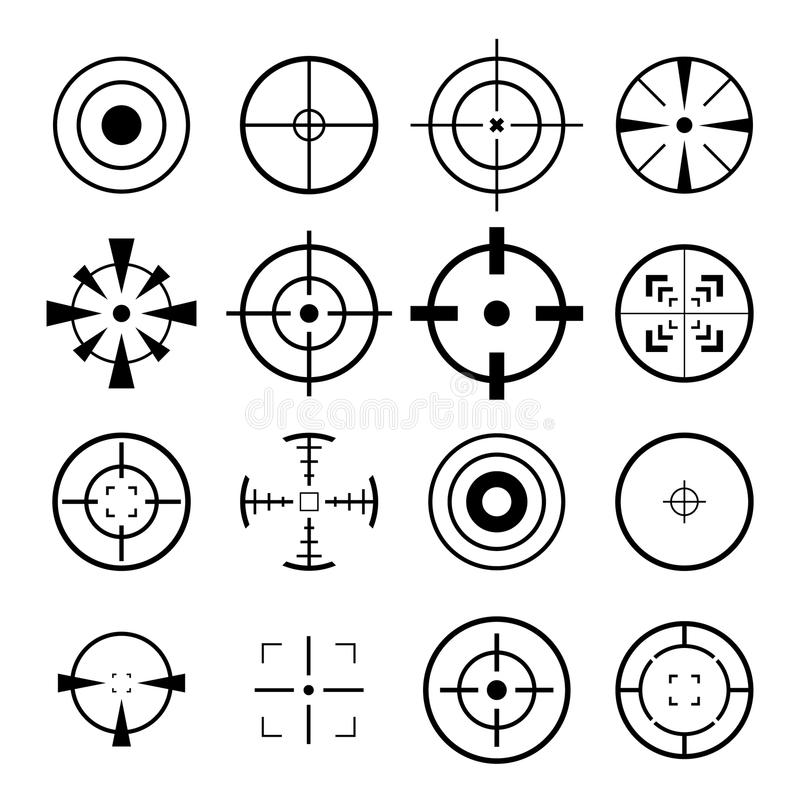 Crosshair Icon. For your design royalty free illustration