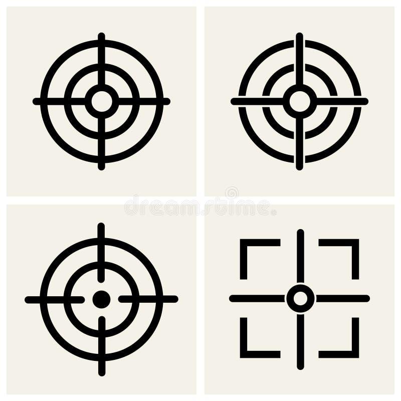Crosshair. Icons set. vector eps10 vector illustration