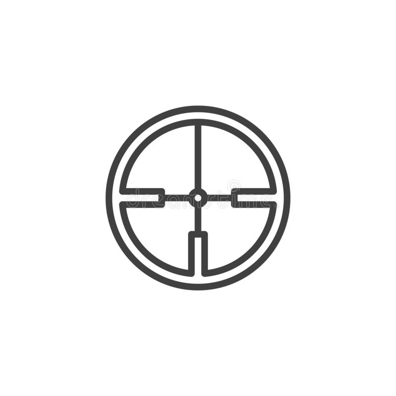 Crosshair line icon. Linear style sign for mobile concept and web design. Aim, target outline vector icon. Symbol, logo illustration. Vector graphics royalty free illustration
