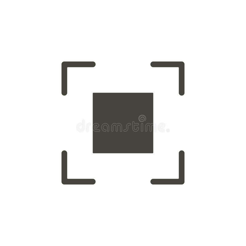 Crosshair, nadrukpictogram Eenvoudig element illustrationCrosshair, nadrukpictogram Materi?le conceptenillustratie vector illustratie